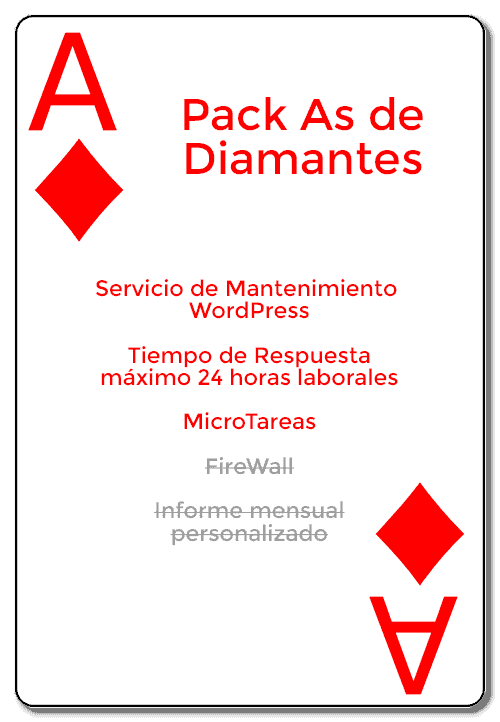pack as de diamantes